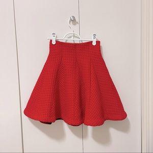 Maje red skirt, high waist